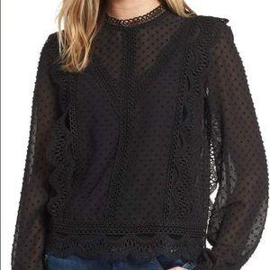REVOLVE Endless Rose blouse top M black